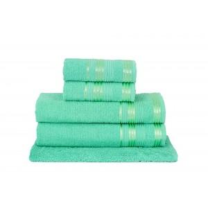 Jogo de Toalha de Banho 5 Peças Atlântica Delicata Verde Esmeralda