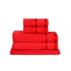 Jogo de Toalha de Banho 5 Peças Atlântica Delicata Vermelha