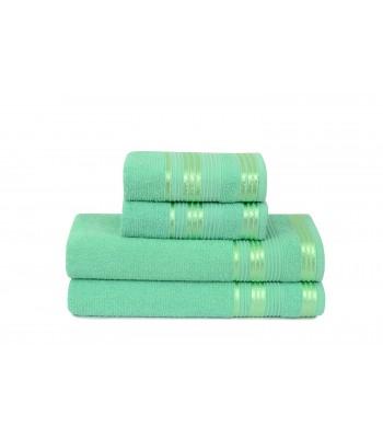 Jogo de Toalha de Banho 4 Peças Atlântica Delicata Verde Esmeralda