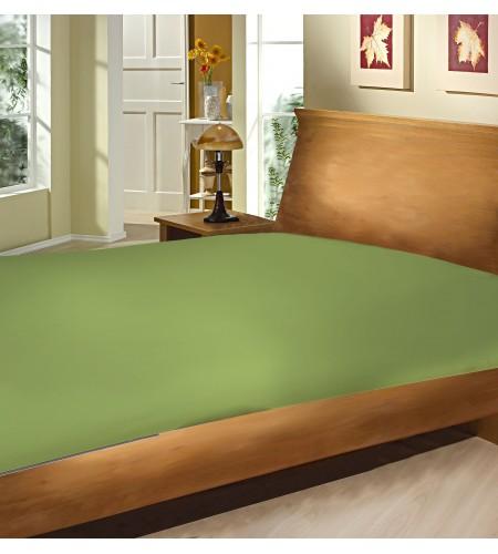 Lençol com Elástico Casal Camesa Microfibra 150 Fios Verde