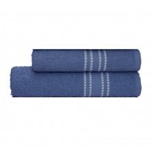 Jogo de Toalha de Banho 2 Peças Camesa Línea Azul