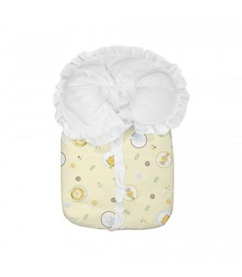 Saco Porta Bebê Bambi Estampado Amarelo