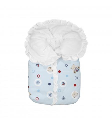 Saco Porta Bebê Bambi Estampado Azul