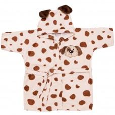 Roupão com Capuz Estampado Baby Joy para Bebês 0 a 3 anos Bichinhos Cachorrinho