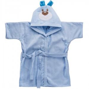 Roupão com Capuz Bodado Baby Joy para Bebês 0 a 3 anos Carinhas Ursinho