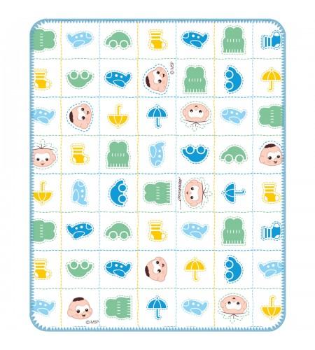 Cobertor para Bebê com Estampa Incomfral Turma da Mônica Baby 70x90 cms Estampa Cebolinha e Cascão