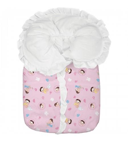 Porta Bebê Turma da Monica Baby Estampado Mônica e Magali