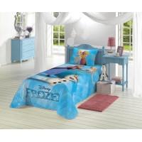 Colcha Matelassê Infantil Frozen Azul