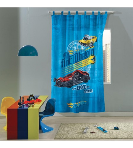 Cortina com Alça Infantil Hot Wheels