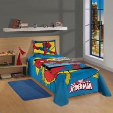 Jogo de Cama Infantil Estampado Homem Aranha Ultimate 2 Peças