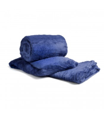 Cobertor de Casal Microfibra Sultan 180grs 1,80 x 2,00 mts Azul Petróleo