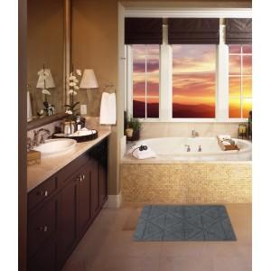 Tapete para Banheiro ou Quarto 100% Algodão 50 x 80 cms Naturalle Barcelona Cinza