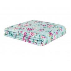 Cobertor de Casal Estampado Microfibra Sultan 180grs 1,80 x 2,00 mts Azul Floral