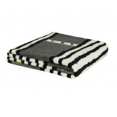 Cobertor de Casal Estampado Microfibra Sultan 180grs 1,80 x 2,00 mts Branco Preto