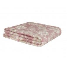 Cobertor de Casal Estampado Microfibra Sultan 180grs 1,80 x 2,00 mts Rosa